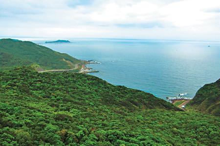 風情照片-山頂眺望北海岸。