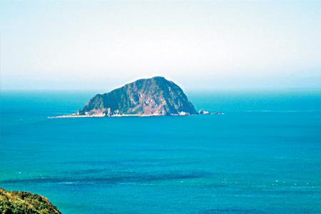 風情照片-眺望基隆嶼美麗海景。