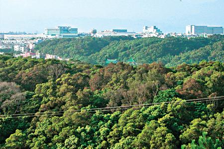 風情照片-遠眺台灣半導體重鎮新竹科學園區。