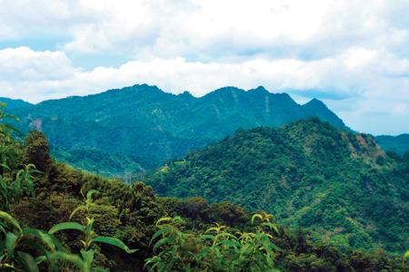 風情照片-大橫屏山稜脈綿,鶴立雞群。圖/崔祖錫