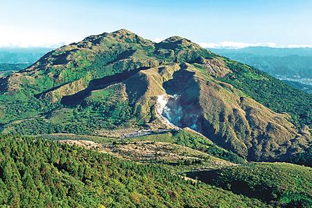 風情照片-七星山山體呈標準錐形。圖╱吳志學