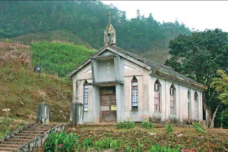 風情照片-大禮部落舊教堂。