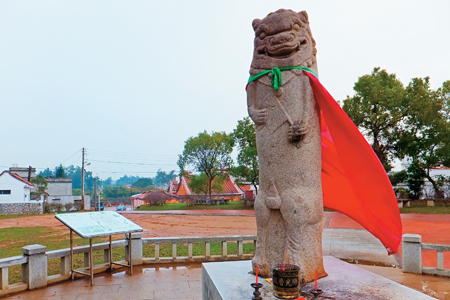 風情照片-金門風獅爺是村落的守護神。圖/陳素恩