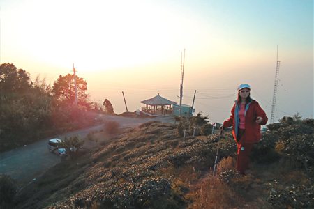 風情照片-二尖山頂的黃昏。
