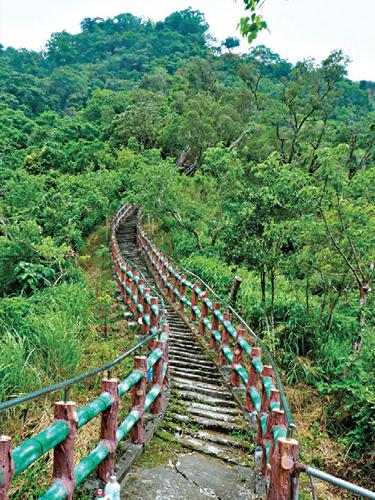 風情照片-旗尾山階梯步道。